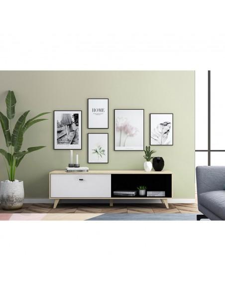 Meuble TV Caroline en bois clair design
