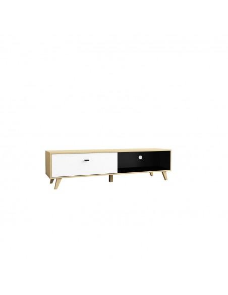 Meuble TV Caroline en bois clair moderne