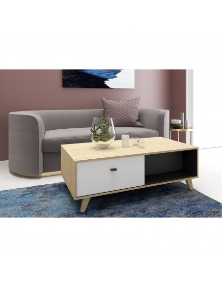 Table basse Louise en bois clair design