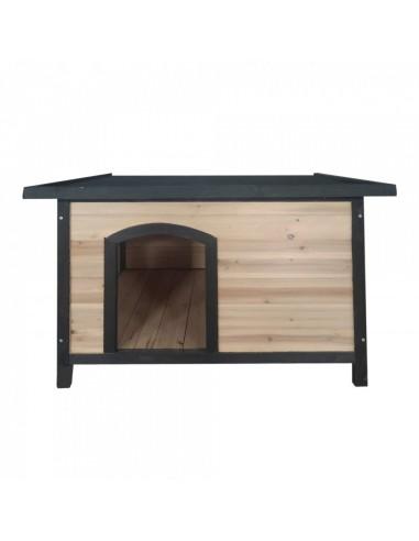 Vanty  Niche en bois toit plat pour...