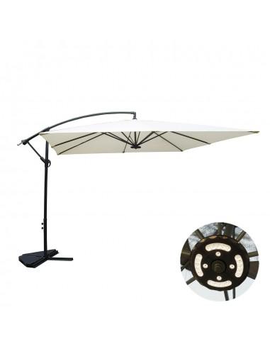 Solenzara à LED écru : Parasol à LED...