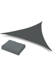 Voile d'ombrage triangulaire gris de qualité