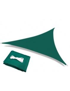 Voile d'ombrage triangulaire vert foncé