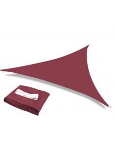 Voile d'ombrage triangulaire bordeaux