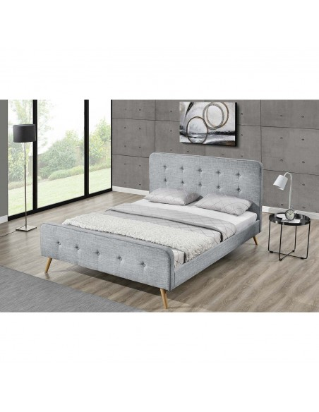 Lit Rosalie gris clair 160 x 200