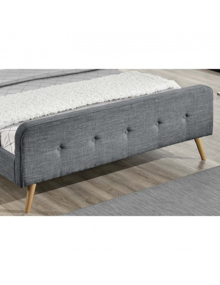 Lit Rosalie gris foncé 160 x 200 design